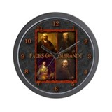 Faces of Rembrandt Wall Clock