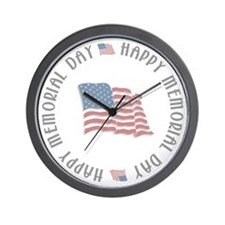 Happy Memorial Day Wall Clock