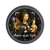 Women of da Vinci Wall Clock
