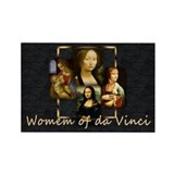 Women of da Vinci Rectangle Magnet