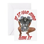 BIKER JUG MANIA Greeting Cards (Pk of 10)