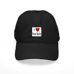 I Love Horse Racing Black Cap
