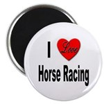 I Love Horse Racing Magnet