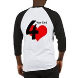 Four of Hearts Card Revelation Baseball Jersey