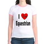 I Love Equestrian (Front) Jr. Ringer T-Shirt