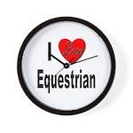 I Love Equestrian Wall Clock