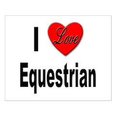 I Love Equestrian Small Poster