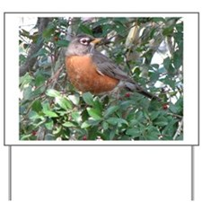Robin Redbreast Yard Sign