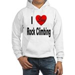 I Love Rock Climbing Hooded Sweatshirt