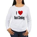 I Love Rock Climbing Women's Long Sleeve T-Shirt