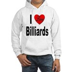 I Love Billiards (Front) Hooded Sweatshirt