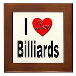 I Love Billiards Framed Tile