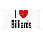 I Love Billiards Banner
