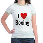 I Love Boxing Jr. Ringer T-Shirt
