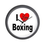 I Love Boxing Wall Clock