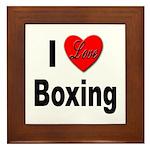 I Love Boxing Framed Tile