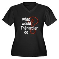 Thénardier Women's Plus Size V-Neck Dark T-Shirt