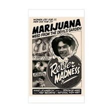 Reefer Madness 1 Rectangle Decal
