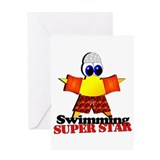 Swimming Super Star Greeting Card