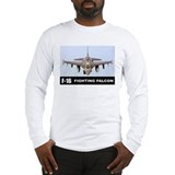 F-16 Falcon Fighter Long Sleeve T-Shirt