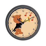 Musical Teddy Wall Clock