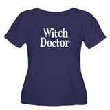 Witch Doctor Women's Plus Size Scoop Neck Dark T-S