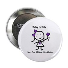 "Purple Ribbon - Relay for Life 2.25"" Button (100 p"