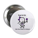 "Purple Ribbon - Relay for Life 2.25"" Button (10 pa"