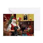 Santa's Black Lab Greeting Cards (Pk of 20)