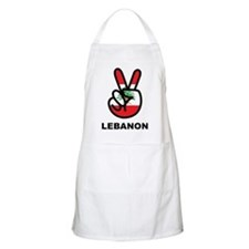 Peace In Lebanon BBQ Apron