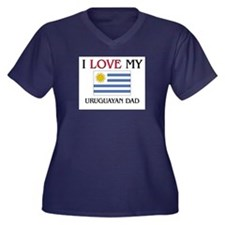 I Love My Uruguayan Dad Women's Plus Size V-Neck D