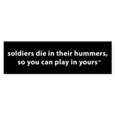 Soldiers In Hummers Bumper Bumper Sticker