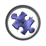 Puzzle Piece Ala Carte 1.4 (Blue) Wall Clock