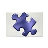 Puzzle Piece Ala Carte 1.4 (Blue) Rectangle Magnet
