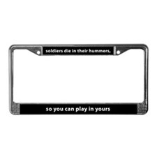 Soldiers In Hummers License Plate Frame