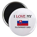 "I Love My Slovakian Dad 2.25"" Magnet (10 pack)"