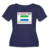 I Love My Sierra Leonean Dad Women's Plus Size Sco