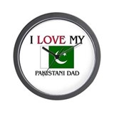 I Love My Pakistani Dad Wall Clock