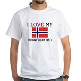 I Love My Norwegian Dad Shirt