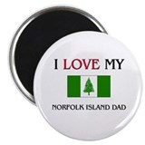 "I Love My Norfolk Island Dad 2.25"" Magnet (10 pack"