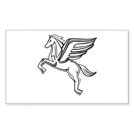 Chasing Pegasus Rectangle Sticker