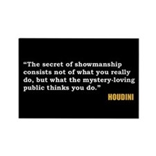 Houdini Showmanship Quote Magnet
