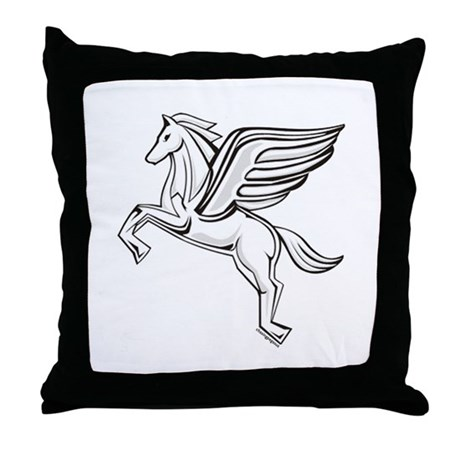 Chasing Pegasus Throw Pillow