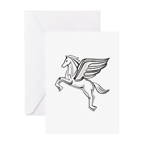 Chasing Pegasus Greeting Card