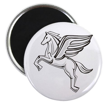 "Chasing Pegasus 2.25"" Magnet (100 pack)"
