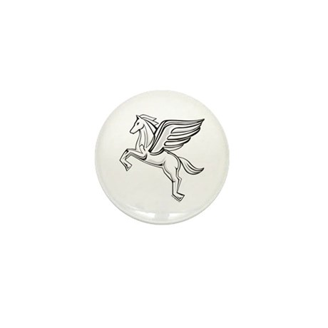Chasing Pegasus Mini Button