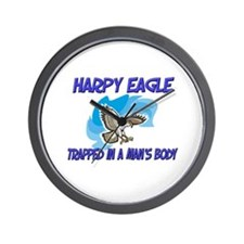 Harpy Eagle Trapped In A Man's Body Wall Clock