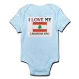 I Love My Lebanese Dad  Baby Onesie
