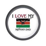 I Love My Kenyan Dad Wall Clock