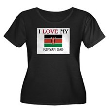 I Love My Kenyan Dad Women's Plus Size Scoop Neck
